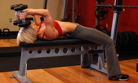 Dumbbell Lying Triceps Extension
