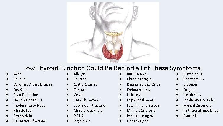 symptoms of low thyroid