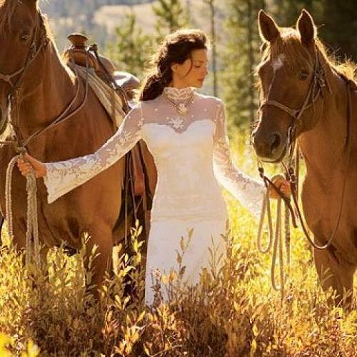 Western Concept About Bridal Wedding Dresses